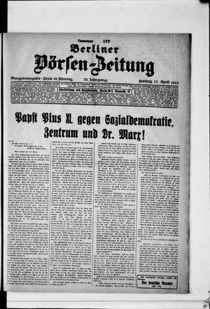 Berliner Börsen-Zeitung on Apr 17, 1925