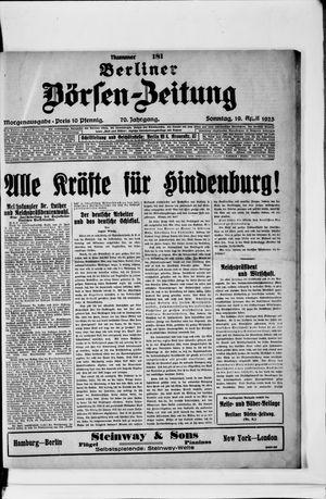 Berliner Börsen-Zeitung vom 19.04.1925