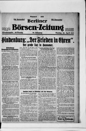 Berliner Börsen-Zeitung vom 20.04.1925