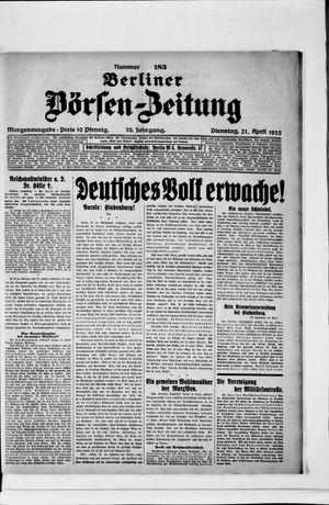 Berliner Börsen-Zeitung vom 21.04.1925