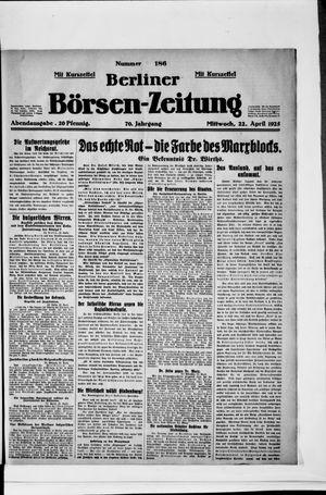 Berliner Börsen-Zeitung vom 22.04.1925