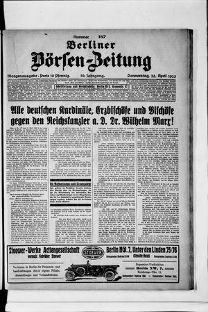 Berliner Börsen-Zeitung vom 23.04.1925