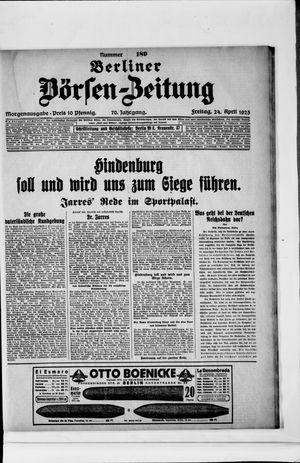 Berliner Börsen-Zeitung vom 24.04.1925