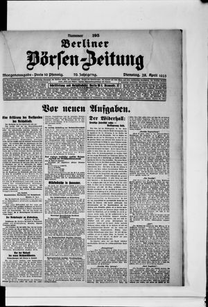 Berliner Börsen-Zeitung vom 28.04.1925