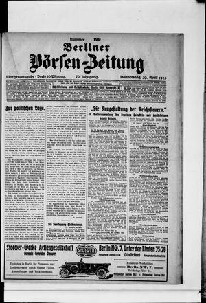 Berliner Börsen-Zeitung vom 30.04.1925