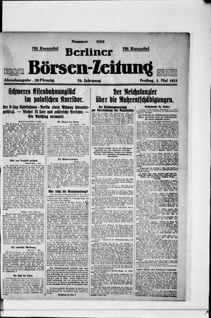 Berliner Börsen-Zeitung vom 01.05.1925