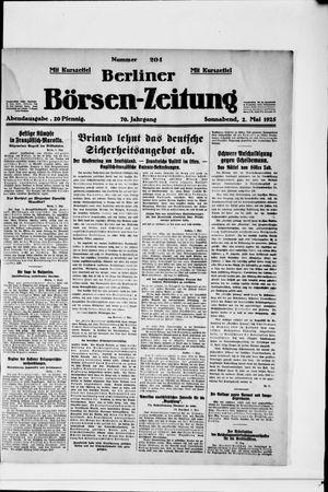 Berliner Börsen-Zeitung vom 02.05.1925