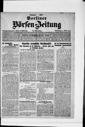 Berliner Börsen-Zeitung vom 05.05.1925