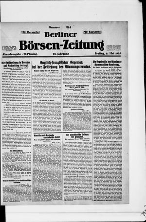 Berliner Börsen-Zeitung vom 08.05.1925