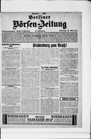 Berliner Börsen-Zeitung vom 10.05.1925