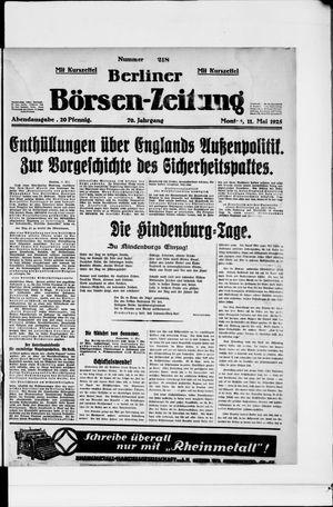 Berliner Börsen-Zeitung vom 11.05.1925