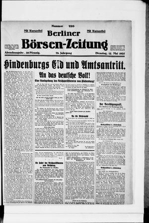 Berliner Börsen-Zeitung vom 12.05.1925