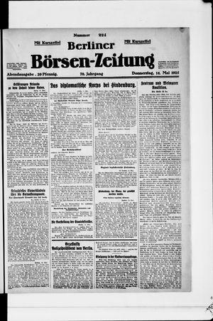 Berliner Börsen-Zeitung vom 14.05.1925