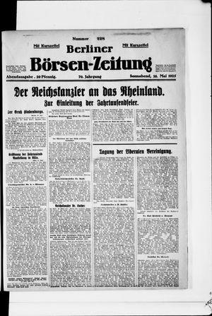 Berliner Börsen-Zeitung vom 16.05.1925