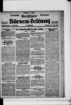 Berliner Börsen-Zeitung vom 18.05.1925