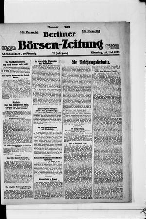 Berliner Börsen-Zeitung vom 19.05.1925