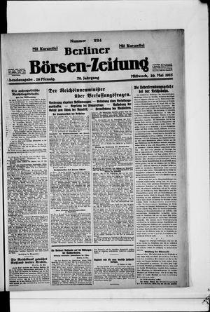 Berliner Börsen-Zeitung on May 20, 1925