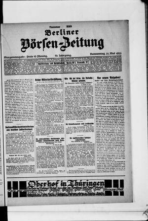 Berliner Börsen-Zeitung vom 21.05.1925