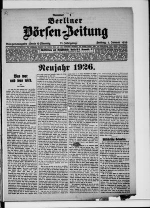 Berliner Börsen-Zeitung vom 01.01.1926