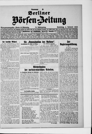 Berliner Börsen-Zeitung vom 03.01.1926