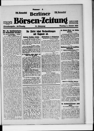 Berliner Börsen-Zeitung vom 04.01.1926