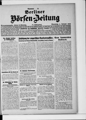 Berliner Börsen-Zeitung vom 05.01.1926