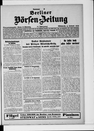 Berliner Börsen-Zeitung vom 06.01.1926