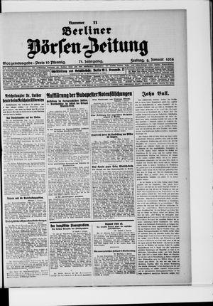 Berliner Börsen-Zeitung vom 08.01.1926