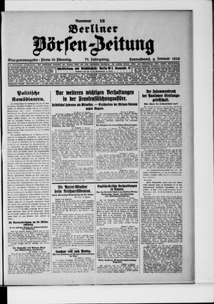 Berliner Börsen-Zeitung vom 09.01.1926
