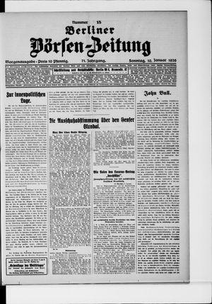 Berliner Börsen-Zeitung vom 10.01.1926