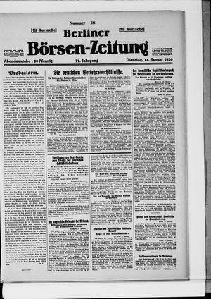 Berliner Börsen-Zeitung vom 12.01.1926