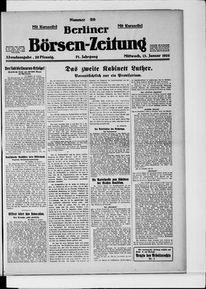 Berliner Börsen-Zeitung vom 13.01.1926