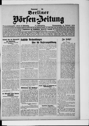 Berliner Börsen-Zeitung vom 14.01.1926