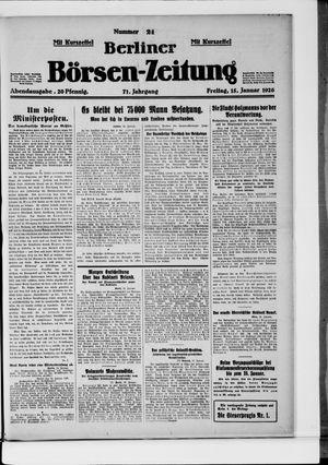 Berliner Börsen-Zeitung vom 15.01.1926