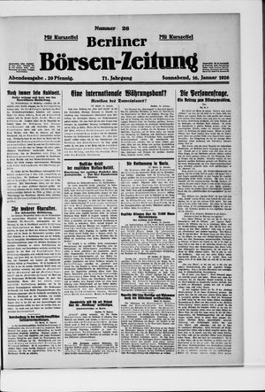 Berliner Börsen-Zeitung vom 16.01.1926