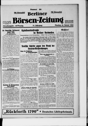 Berliner Börsen-Zeitung vom 18.01.1926