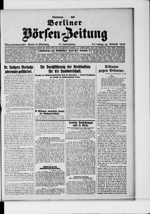 Berliner Börsen-Zeitung vom 19.01.1926