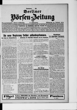 Berliner Börsen-Zeitung vom 20.01.1926