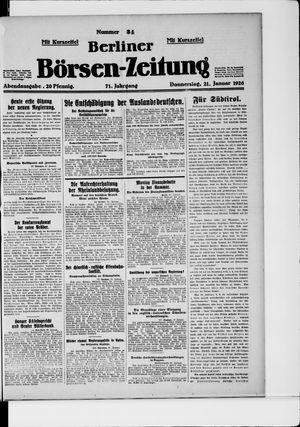 Berliner Börsen-Zeitung vom 21.01.1926