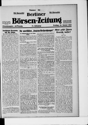 Berliner Börsen-Zeitung vom 22.01.1926