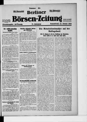 Berliner Börsen-Zeitung vom 23.01.1926