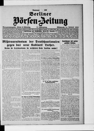 Berliner Börsen-Zeitung vom 27.01.1926