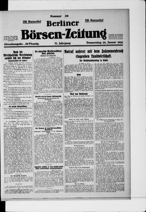 Berliner Börsen-Zeitung vom 28.01.1926