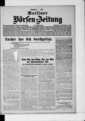 Berliner Börsen-Zeitung vom 29.01.1926