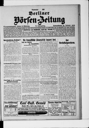 Berliner Börsen-Zeitung vom 30.01.1926