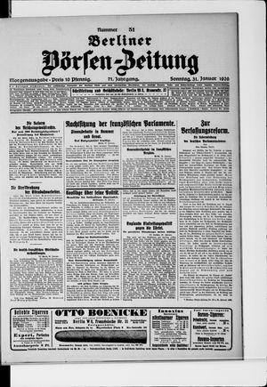 Berliner Börsen-Zeitung vom 31.01.1926