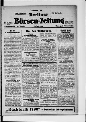 Berliner Börsen-Zeitung vom 01.02.1926