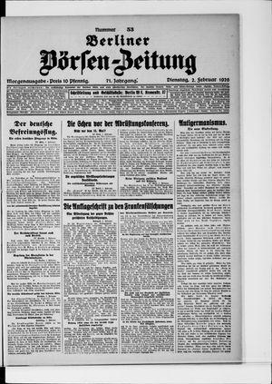 Berliner Börsen-Zeitung vom 02.02.1926