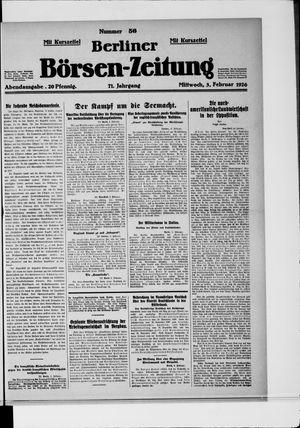 Berliner Börsen-Zeitung vom 03.02.1926