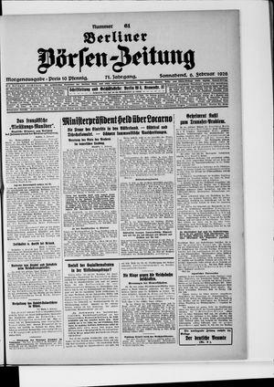 Berliner Börsen-Zeitung vom 06.02.1926